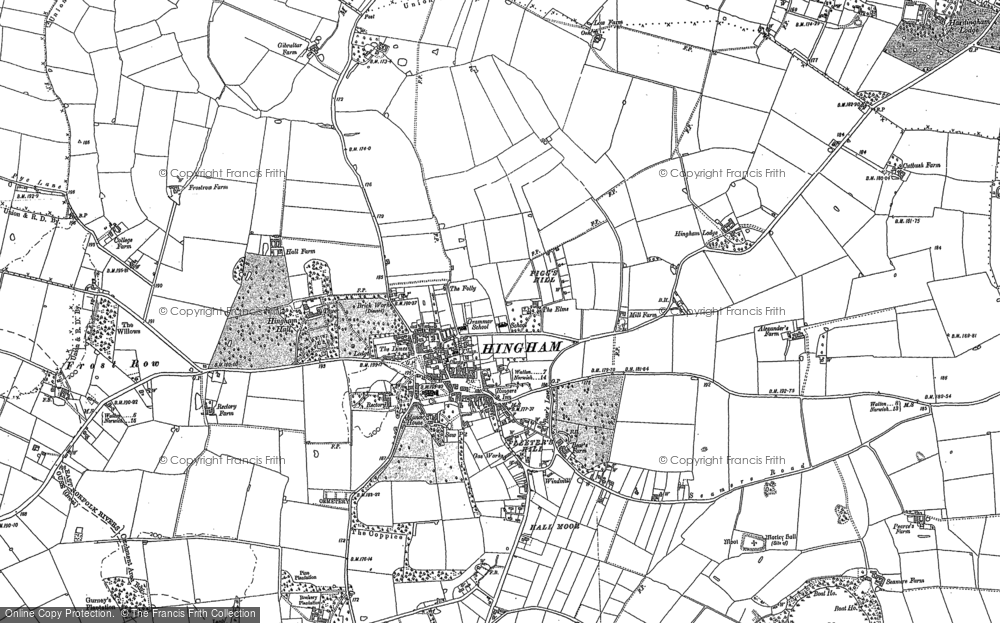 Old Map of Historic Map covering Sea Mere Fm in 1882