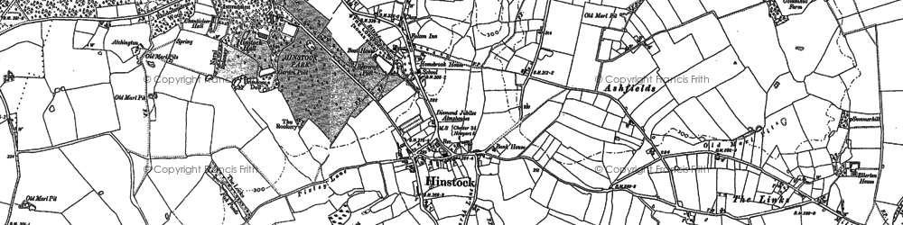 Old map of Hinstock in 1880