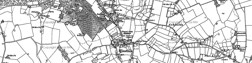 Old map of Ashfields in 1880