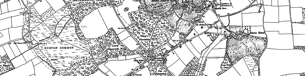 Old map of Hinton in 1896