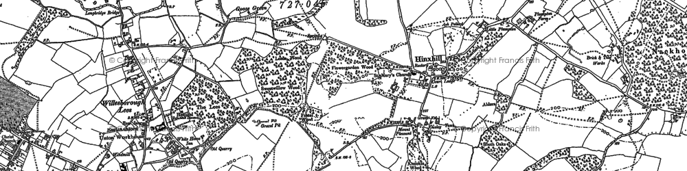 Old map of Willesborough Lees in 1896