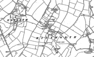 Old Map of Hinxworth, 1900