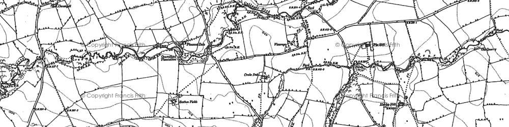 Old map of Hipswell in 1891