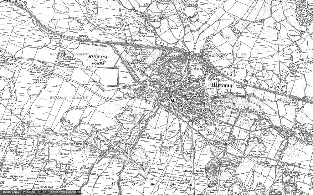 Map of Hirwaun, 1898 - 1903