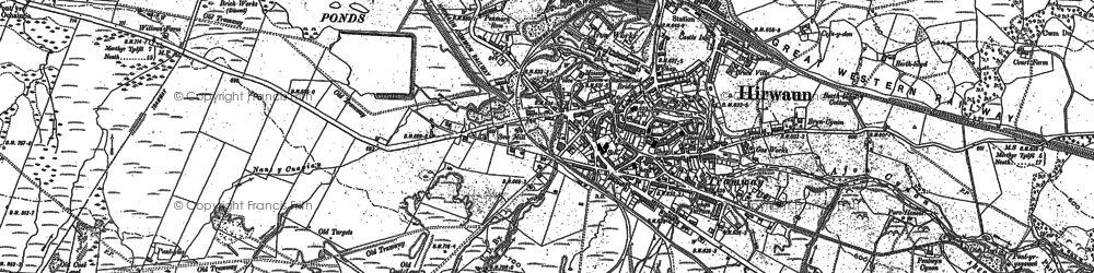 Old map of Hirwaun in 1898