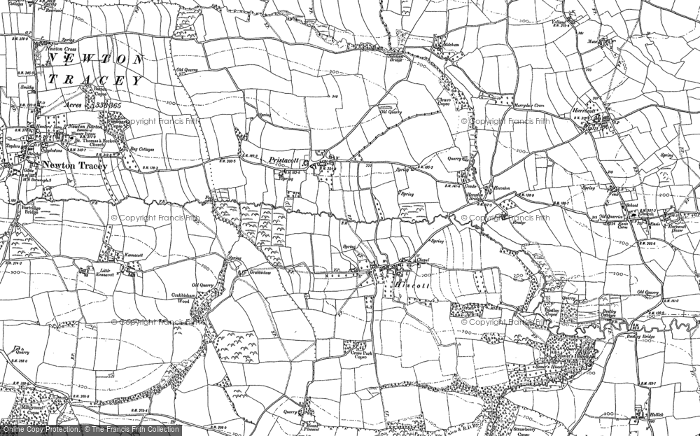 Old Map of Historic Map covering Linscott in 1886