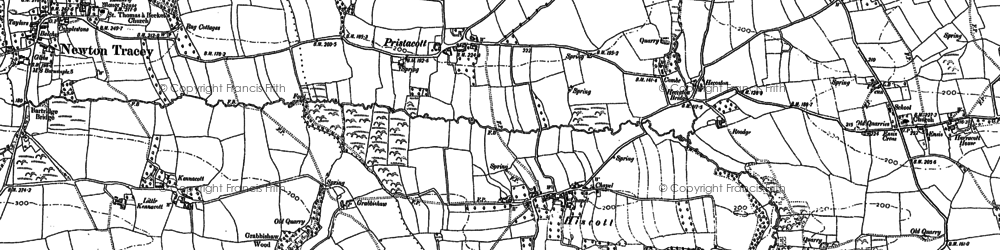 Old map of Linscott in 1886