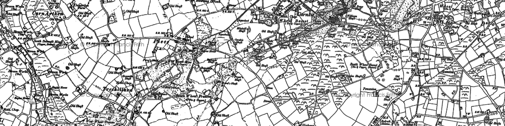 Old map of Carnkie in