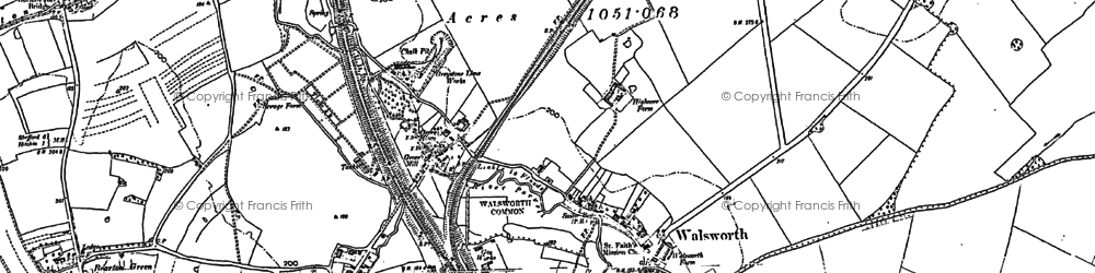 Old map of Hitchin in 1897