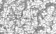 Old Map of Hittisleigh, 1886 - 1887