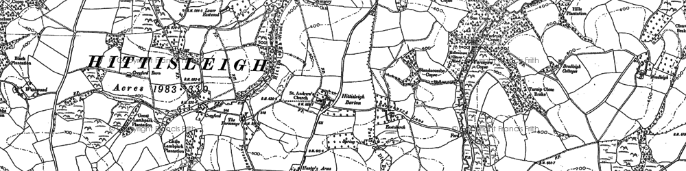 Old map of Westwood in 1886