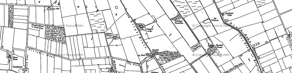 Old map of Yokefleet Lodge in 1889