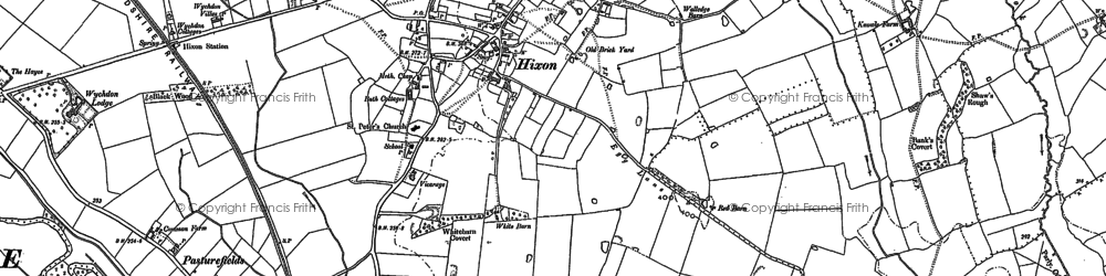 Old map of Abbots Bromley Cycle Way in 1881