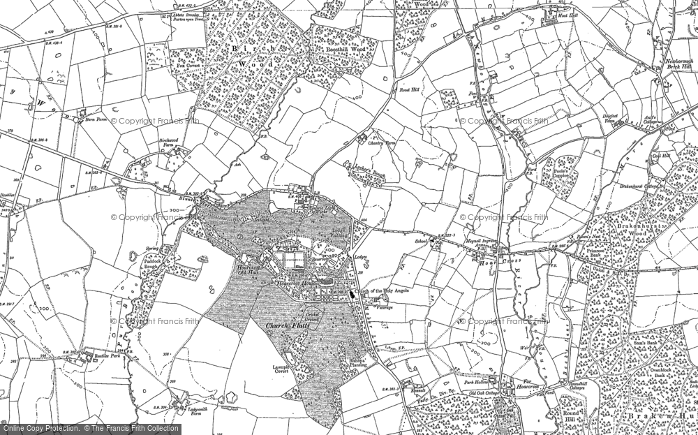 Old Map of Historic Map covering Woodmill in 1882