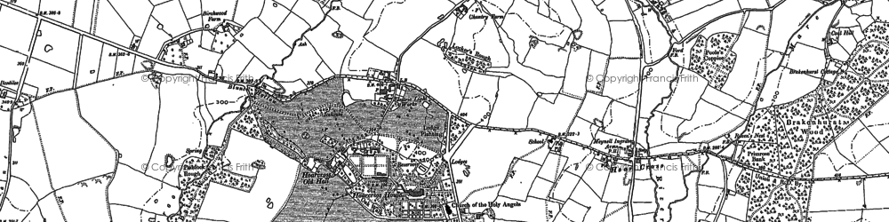 Old map of Yoxall Lodge in 1882
