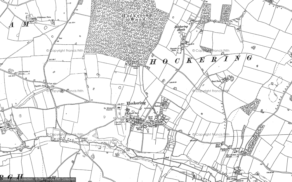 Old Map of Historic Map covering Whitford Br in 1882