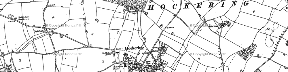 Old map of Whitford Br in 1882
