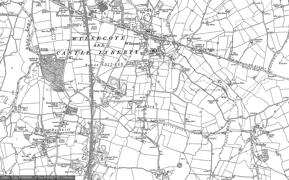Old Map of Hockley, 1883 in 1883
