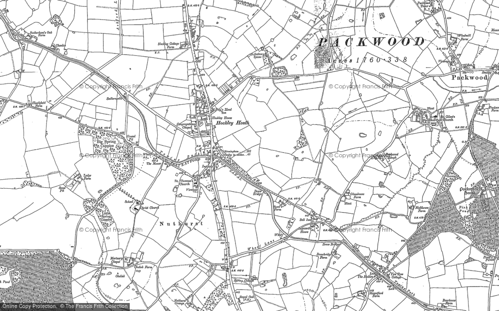 Old Map of Historic Map covering Aylesbury Ho (Hotel) in 1886