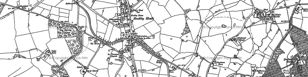 Old map of Aylesbury Ho (Hotel) in 1886
