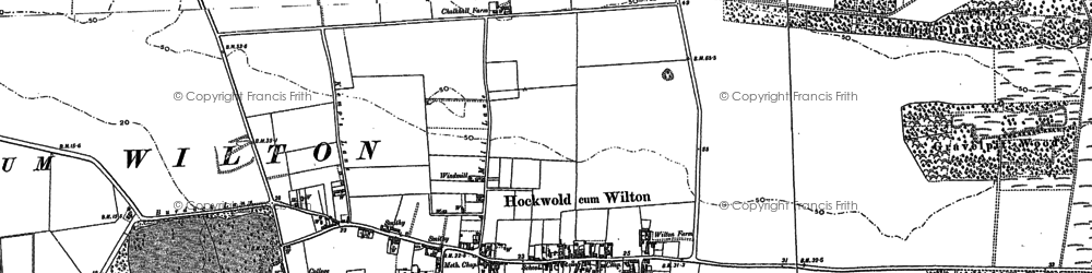 Old map of Wilton Br in 1903