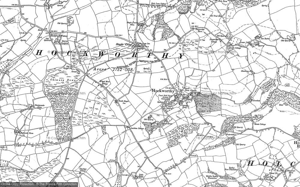 Old Map of Historic Map covering Lea Barton in 1903