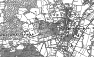 Old Map of Hoddesdon, 1895