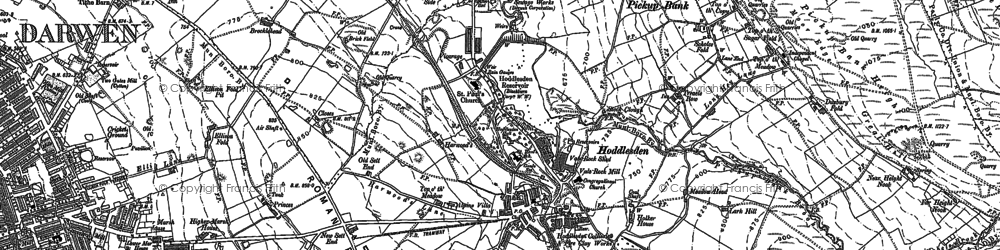 Old map of Blacksnape in 1891