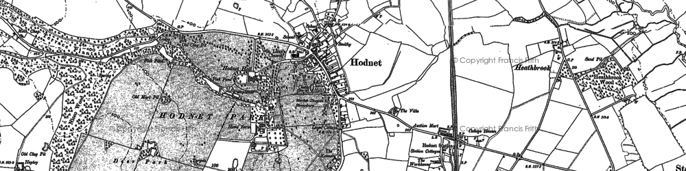 Old map of Hodnet in 1880