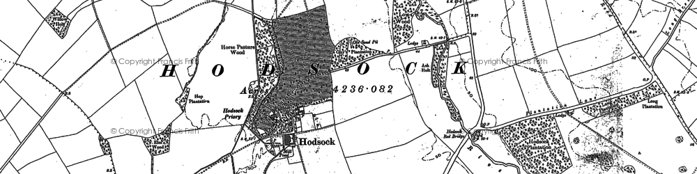 Old map of Willow Holt in 1897