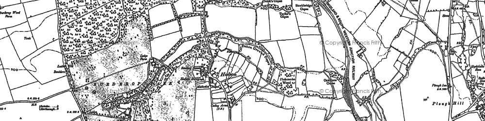 Old map of Hodson in 1899
