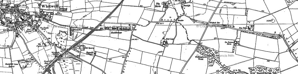 Old map of Hodthorpe in 1884