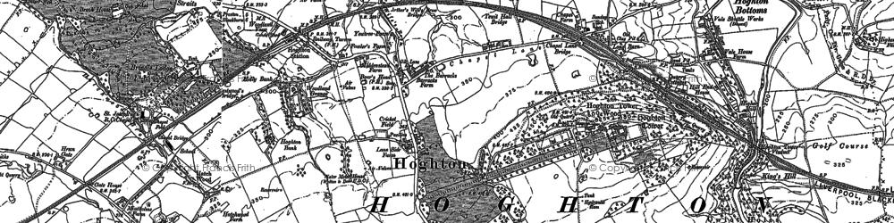 Old map of Hoghton in 1892