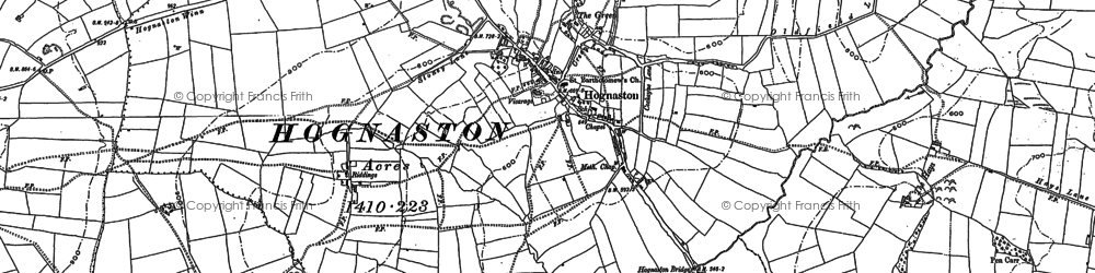 Old map of Atlow Winn in 1879