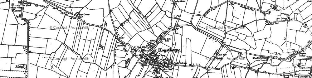 Old map of Authorpe Row in 1888