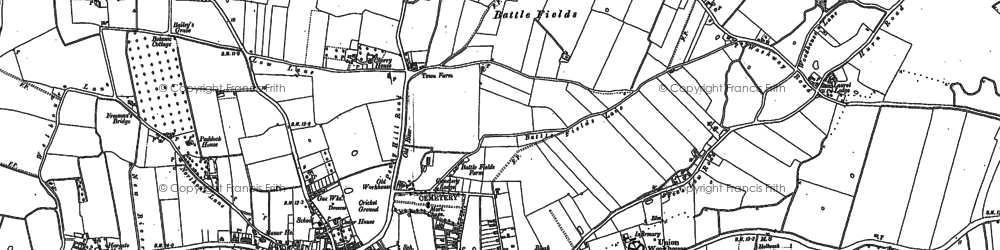 Old map of Holbeach in 1887