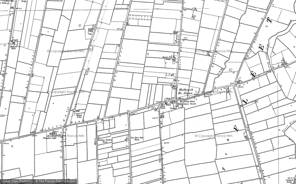 Old Map of Historic Map covering Leedsgate Br in 1886