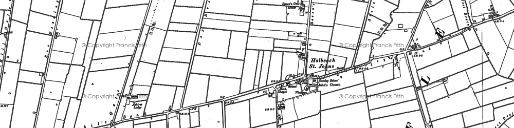 Old map of Leedsgate Br in 1886