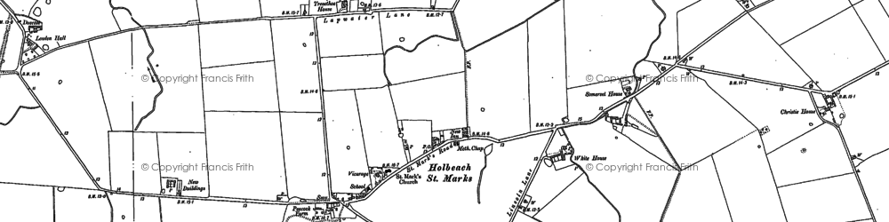 Old map of Willow Tree Ho in 1886