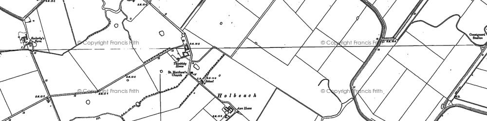 Old map of Woodstoke Ho in 1886