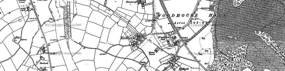Old map of Woodhouse Hall in 1884