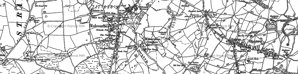 Old map of Holcombe in 1884