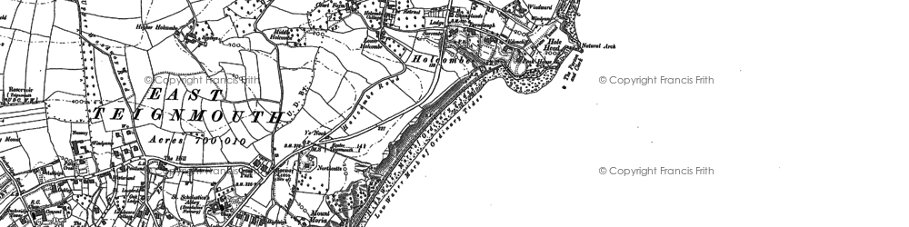 Old map of Holcombe in 1904