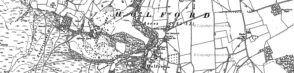 Old map of Alfoxton Park Hotel in 1886