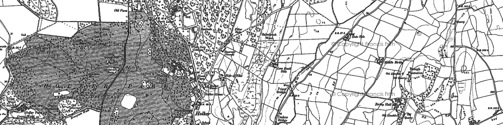 Old map of Holker in 1848
