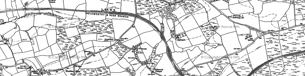Old map of Whitecroft in 1883