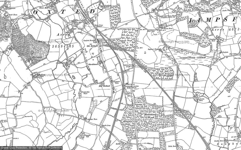 Old Map of Holland, 1895 - 1910 in 1895