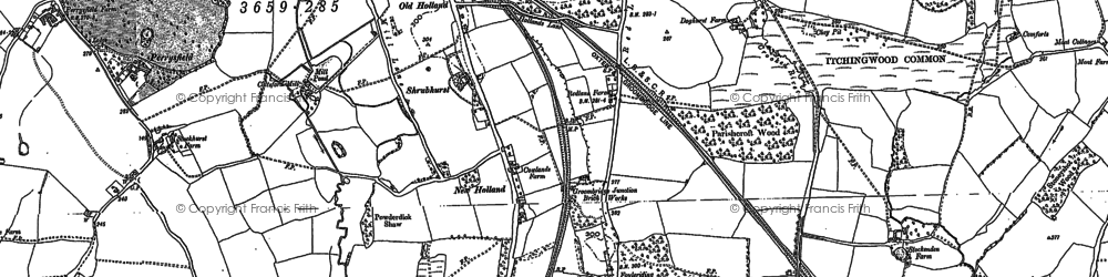 Old map of Holland in 1895