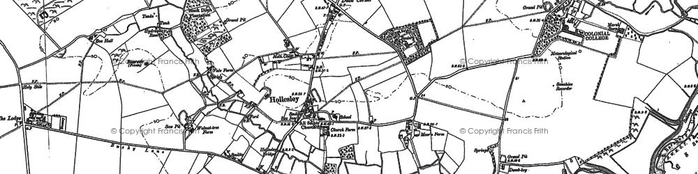 Old map of Woodbridge Walk in 1902