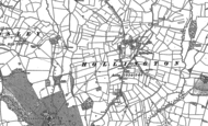 Old Map of Hollington, 1880